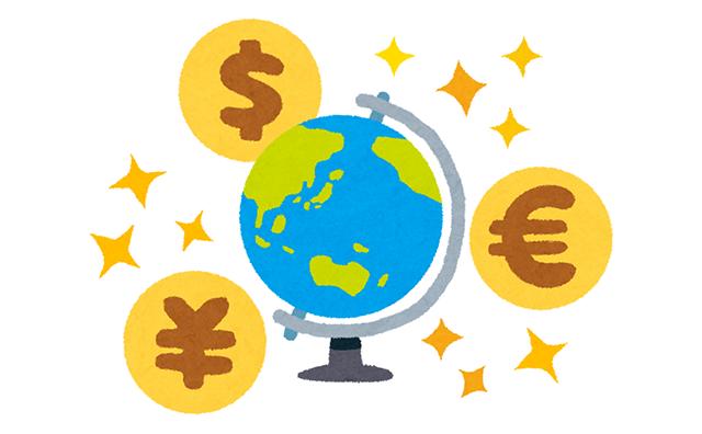 FX_世界地図と通貨